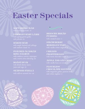 Easter Burst Menu