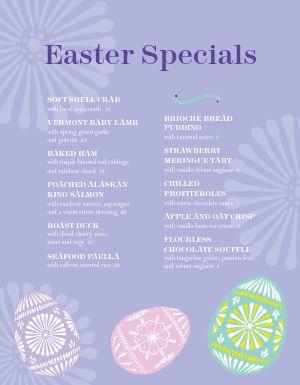 Easter Burst Menu