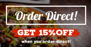 Order Direct Facebook Post
