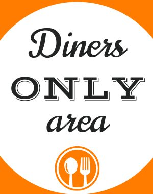 Diners Only Poster