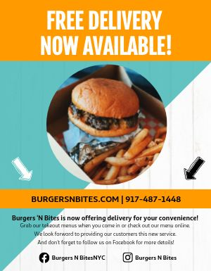 Free Delivery Takeout Flyer