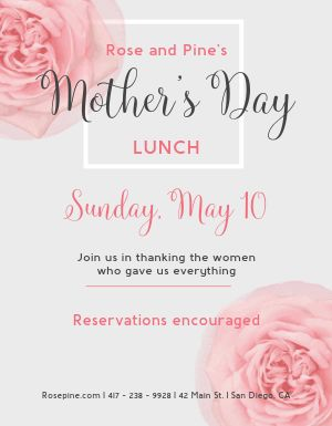 Mothers Day Petal Flyer