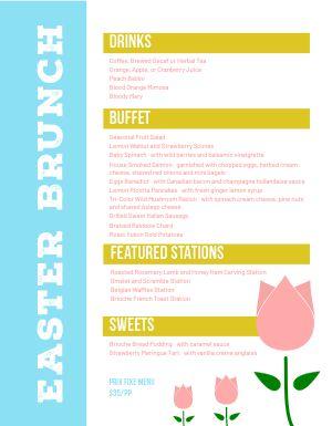 Easter Tulip Menu