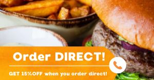 Burger Order Facebook Post