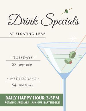 Drink Specials Bar Flyer