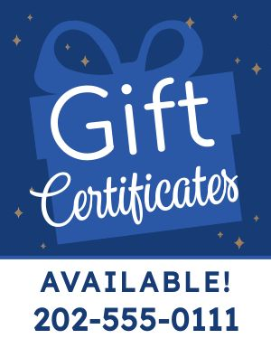 Gift Certificates Signage
