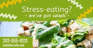Stress Eating Facebook Post