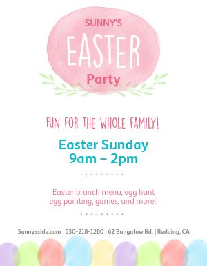 Family Easter Flyer