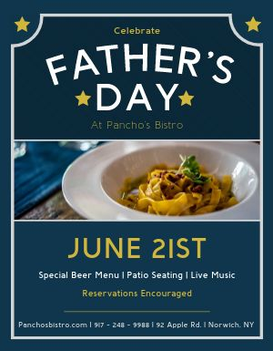 Fathers Day Food Flyer