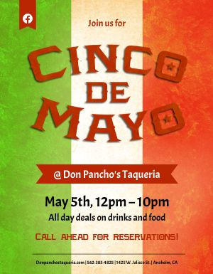 Cinco De Mayo Flag Flyer
