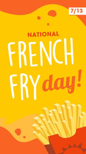 French Fry Facebook Story