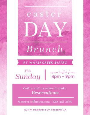 Easter Day Brunch Flyer
