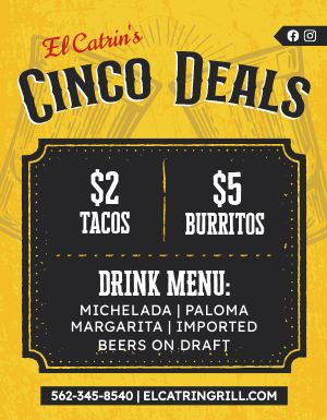 Cinco Deals Flyer