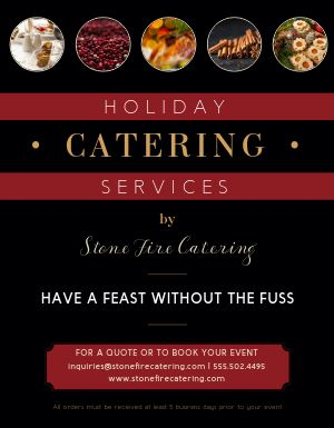 Seasonal Catering Flyer