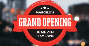Grand Opening City Facebook Post