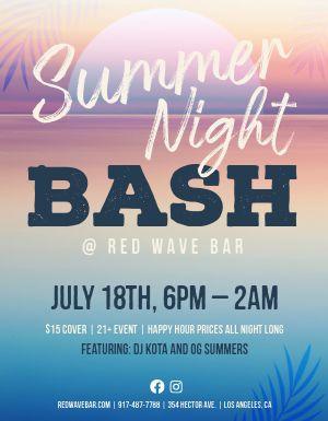 Summer Night Bash Flyer