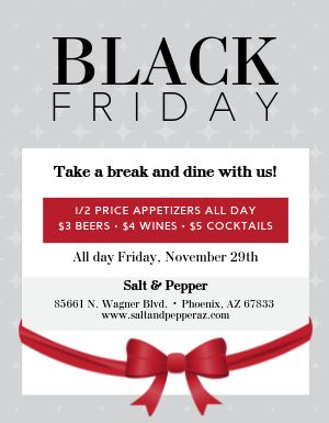 Black Friday Specials Flyer