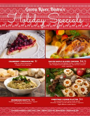 Christmas Sweater Specials Flyer