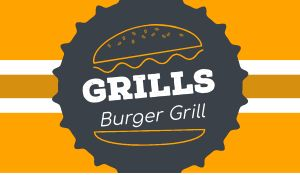 Burger Grill Sticker