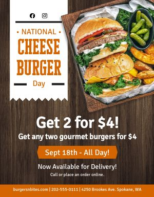 Cheeseburger Day Announcement