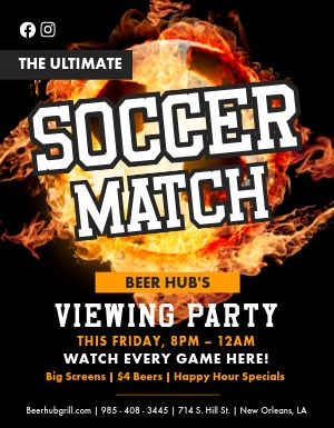 Soccer Match Flyer