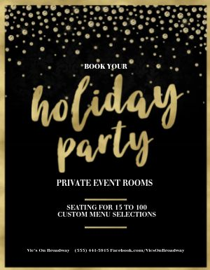 Holiday Party Booking Flyer