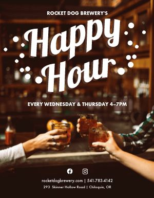 Cocktail Happy Hour Flyer