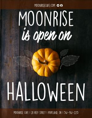 Halloween Window Flyer