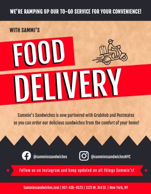 Outside Delivery Service Flyer