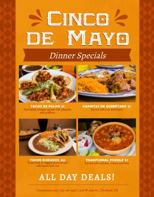 Cinco De Mayo Dinner Flyer