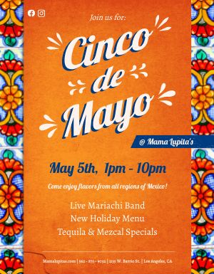 Orange Cinco de Mayo Flyer
