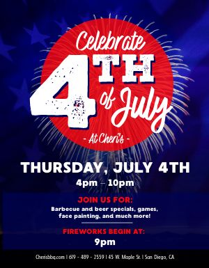 Fourth of July Fireworks Flyer