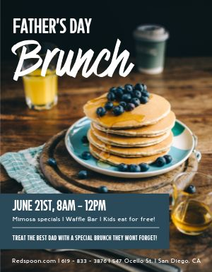 Fathers Day Brunch Specials Flyer