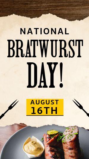 Bratwurst Instagram Story