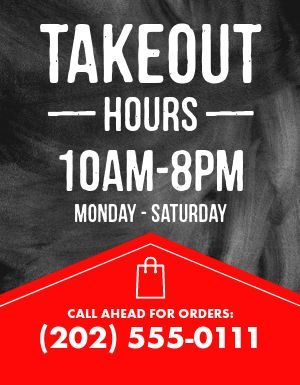 Takeout Availability Flyer