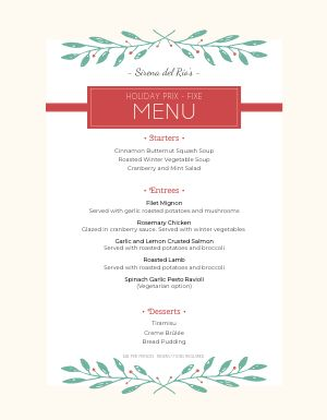 Basic Christmas Menu