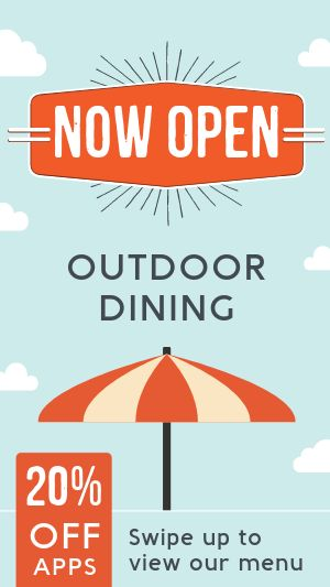 Outdoor Dining Instagram Story