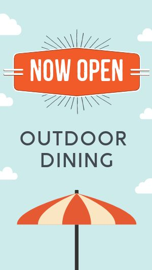 Outdoor Dining Facebook Story