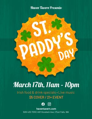 St Paddys Day Flyer