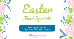 Easter Restaurant Facebook Post