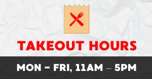 Takeout Hours Facebook Post