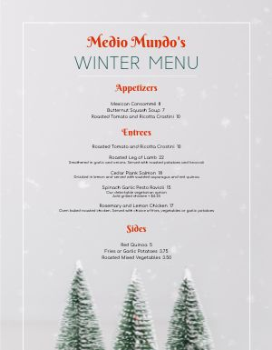 Christmas Forest Menu