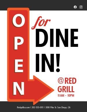 Open Dine In Sign