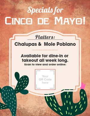Cinco De Mayo Specials Sign