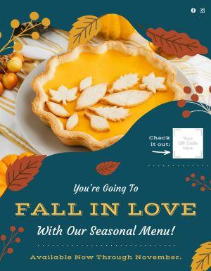 Fall Restaurant Flyer
