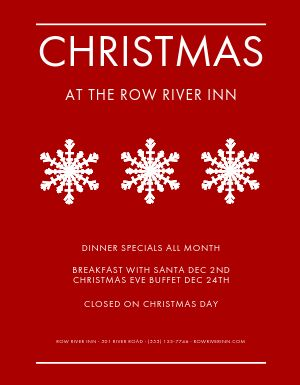Restaurant Christmas Event Flyer