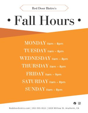 Fall Hours Flyer