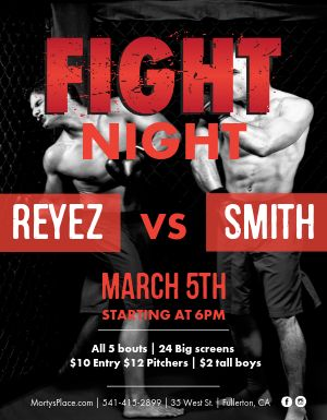 Big Fight Flyer