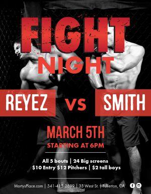 Big Fight Flyer