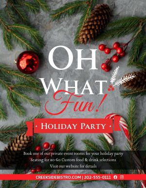 Holiday Party Sign
